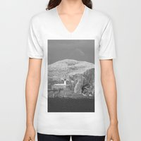 scotland V-neck T-shirts featuring Bass Rock, Scotland by Phil Smyth