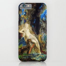 Fairy and Griffon on the Fairy Queen's Woodland Throne by Gustave Moreau iPhone Case