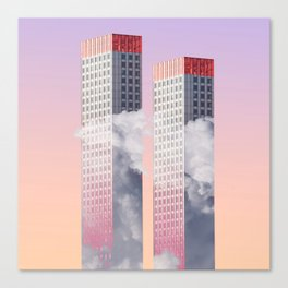 Twin towers New York Canvas Print