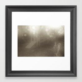Misty Playground Framed Art Print