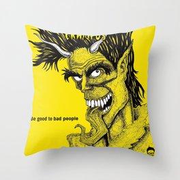 The Crampus Throw Pillow