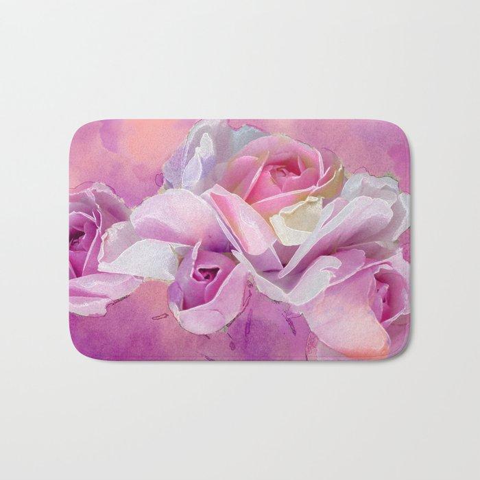 Romantic rose(12) Bath Mat