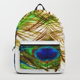 GORGEOUS BLUE-GREEN PEACOCK FEATHERS ART Backpack
