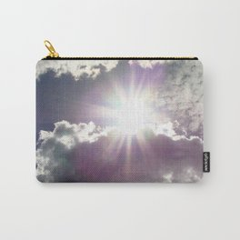 Silver Linings sun through the clouds Carry-All Pouch
