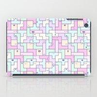 kawaii iPad Cases featuring Kawaii Tetris by KiraKiraDoodles