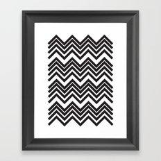 Black Chevron Framed Art Print