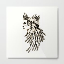 Face of a Warrior Metal Print