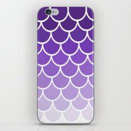 Ombre Fish Scale In Grape iPhone Skin