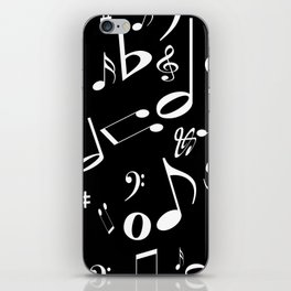Music in the Air Black iPhone Skin