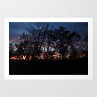 rileigh smirl Art Prints featuring Rainbow Sunset by Rileigh Smirl