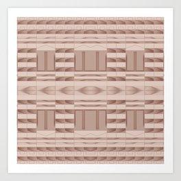 Beige Windows Abstract Art Print