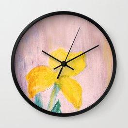 Sunny iris Wall Clock