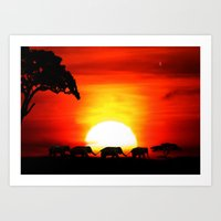 africa Art Prints featuring Africa by Selina Morgan