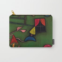"""Paul Klee """"Pflanze und Fenster Stilleben (Still life with Plant and Window)"""" Carry-All Pouch"""