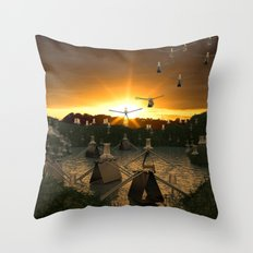 Pushpin Invasion Throw Pillow