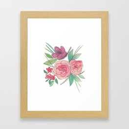 Glossy Flowers Framed Art Print
