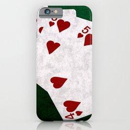 Poker Straight Flush Hearts iPhone Case