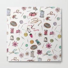 Boo Boo's Mini Sewing Kit Metal Print
