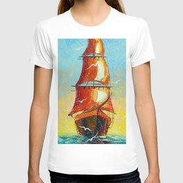 Scarlet sails T-shirt