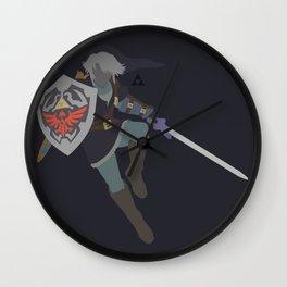 Link(Smash)Dark Wall Clock