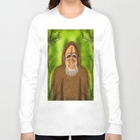 yeti Long Sleeve T-shirts featuring Yeti by Designs By Misty Blue (Misty Lemons)