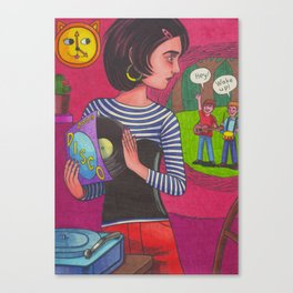 Disco Girl Canvas Print