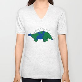 Earth Steggy Unisex V-Neck