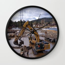 River Work Wall Clock
