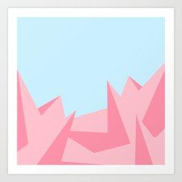 Cotton Candy Fractals Art Print