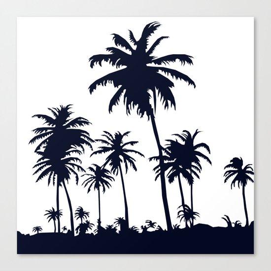 California Negative  Canvas Print