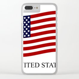 United States flag Clear iPhone Case