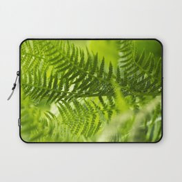 Green Fern Abstract Laptop Sleeve