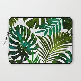 Tropical Dream, Jungle Nature Botanical Monstera Palm Leaves Illustration, Scandinavian Painting Laptop Sleeve