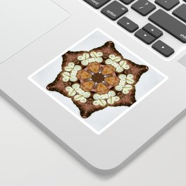 Moth and Flower Mandala Sticker