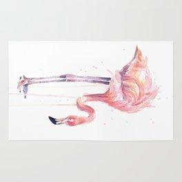 Flamingo Painting Watercolor Rug