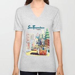 Sanfrancisco vintage mode Unisex V-Neck