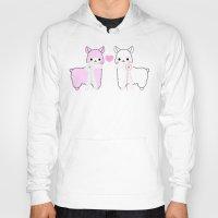 alpaca Hoodies featuring Alpaca Love by rinicake