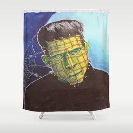 Franken-Pin Shower Curtain