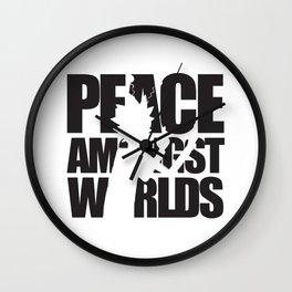 Peace Amongst Worlds Wall Clock