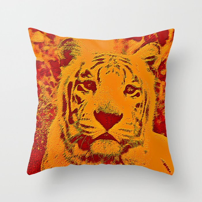 Throw Pillows Big : Big Cat Throw Pillow by cullenrawlins Society6