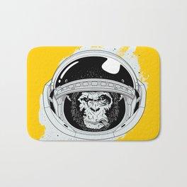 Monkey in white space Bath Mat