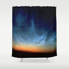 Noctilucent Clouds Sunset Shower Curtain