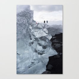 Glacier Ice on Black Sand 2 Canvas Print