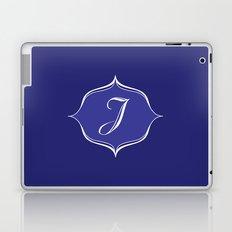 J Monogram Royal Blue Laptop & iPad Skin