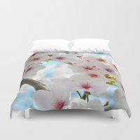 sakura Duvet Covers featuring Sakura by Barrettish