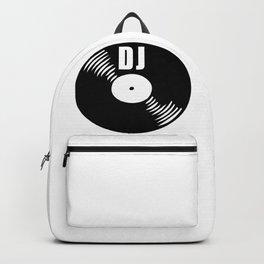 Dj record music logo Backpack