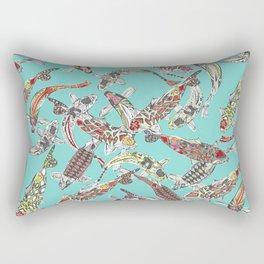 lucky koi blue Rectangular Pillow