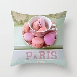 Paris Laduree Macarons Throw Pillow