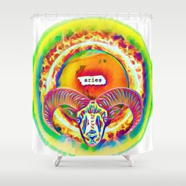 Aries on Fire Shower Curtain