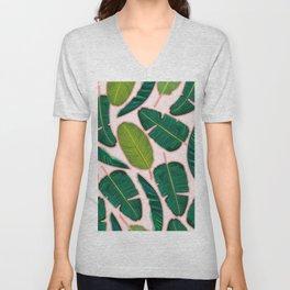 Banana Leaf Blush #society6 #decor #buyart Unisex V-Neck